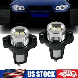 Fit For BMW 3 Series White LED Angel Eyes Halo Ring Marker Light Error Free Bulb