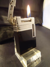 S. T. Dupont URBAN Lighter - Black Lacquer/Palladium - Feuerzeug/Briquet