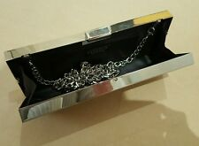 Carvela Kurt Geiger Silver Sparkly clutch bag - unique pencil box style