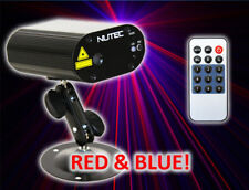 MINI DJ LASER LIGHT disco club karaoke stage lighting firefly, RED BLUE