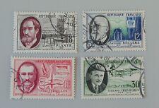 France 1957 1095 1096 1097 1098 YT oblitéré savants et inventeurs 2