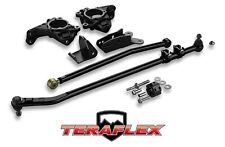TeraFlex High Steer Knuckle Kit & Complete Drag Link Flip 07-17 Jeep Wrangler JK