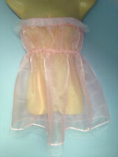 baby pink crystal organza dress adult baby fancy dress sissy french maid 36-52