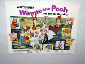 Reprinted Winnie the Pooh & the Very Blustery Day USA Lobby Card Set of 5 Mint!
