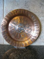 ODEL KOPPER, Rare Fishing Troll Vintage NORD Solid Copper Plate / Norway