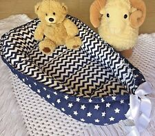 Babynest Navy Baby Nest Co Sleeper Pod Newborn Snuggle Bed Cuddle Double Sided