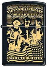 Vietnam Veteran  ~ Your Sacrifice Is Not Forgotten  ~ Military Zippo Lighter