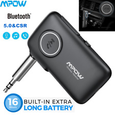 More details for mpow wireless bluetooth 5.0 receiver aux audio adapter for tv/pc/car music stere