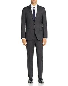 Hugo Boss Genius Birdseye Weave Slim Fit Suit 42R 36W Charcoal Super 100 $695