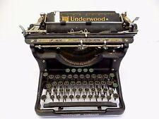 Antique Old Underwood Standard 2 Black Brass Keys USA Elliot Fisher Typewriter