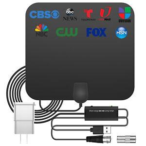 3600 Miles Digital TV Antenna Indoor HDTV Amplified Signal Booster 4K HD 1080P