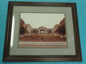 """LARGE SIGNED FRAMED PHOTO NATIONAL UNIVERSITY HAVANA CUBA 20"""" x 16"""" photo"""
