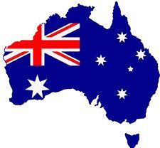 "ADESIVI AUTO Australia ""Australia"" sticker decal 11cm (4.3"") die-cut konturg."