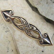 schöne Gewand Fibel  aus Bronze Kelten Gewandnadel Gewandverschluss 5cm lang