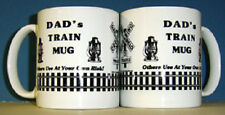RAILROAD COFFEE MUG - Personalized for Dad / Kitchen Collectible / Trains /  Cup