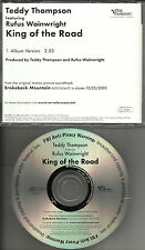 RUFUS WAINWRIGHT & TEDDY THOMPSON King of the Road 2005 USA PROMO DJ CD Single