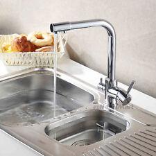 LUSSO 3 vie lavello della cucina miscelatore di acqua pura filtro rubinetto girevole beccuccio rubinetto cromato