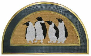 Imports Decor Penguins Half Round Multicolor Doormat