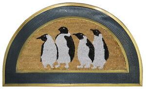 Imports Decor Penguins Half Round Multicolor Doormat