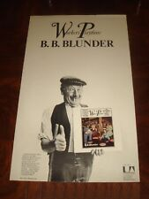"B. B. BLUNDER ""Worker's Playtime"" 1971 UA RECORDS UK PROMO POSTER Blossom Toes"