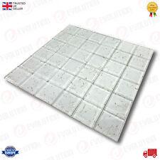 30 x 30 cm vetro mosaico piastrelle foglio bianco con GOLDEN SPLASH MODELLO (1 PC)