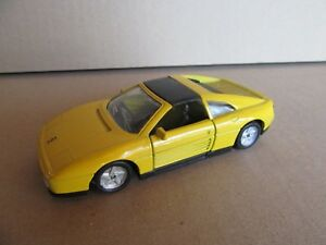 778G Maisto Shell Ferrari 348TS Yellow 1:3 8 Toy To Friction Tested Working