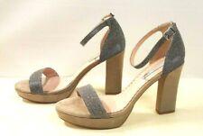 ё445)Luxsus sexy Designer Tosca Blu Schuhe Pumps Leder silber Gr.40 NEU UVP130€