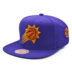 Phoenix Suns Mitchell & Ness CITY LOVE Snapback Adjustable NBA Hat - Purple