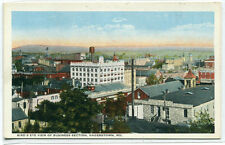 Panorama Business District Hagerstown Maryland 1920s postcard