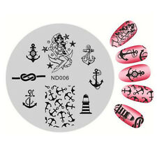 Nail Art Stamping Image Plates Stencil Manicure Stamp Template Anchor Design