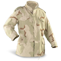 Genuine US Military Issue M-65 Jacket, 3 Color Desert, Used, Made in USA M65