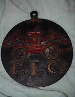 TN-002 - Cast Iron Fireman's Insurance Company Insurance Marker Building Vintage