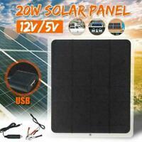Outdoor 20W 12V Car Boat Yacht Solar Panel Trickle Supply Power Cha J4O0 Ba G9O0