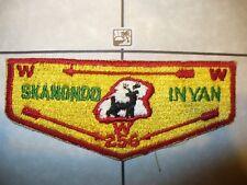 OA Skanondo Inyan Lodge 256,S-2b,1960s Deer Rock Flap,46,251,Colonel Drake Cl,PA