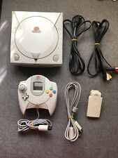 Sega Dreamcast HKT-3020 Console Bundle w/ Controller, Rumble Pack, and Cords