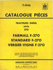 McCormick International Harvester France Tractor Farmall F270 Parts Manual