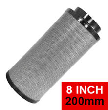 Hydroponics Rc-412 Activated Carbon Filter Air Scrubber Hyflo Black 8 Inch 200mm