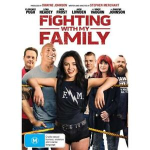 FIGHTING WITH MY FAMILY DVD - NEW & SEALED DWAYNE JOHNSON FREE POST