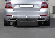 Skoda Octavia Mk3 A7 Chrome Rear Bumper Streamer&Exhaust Deflector Frame S.Steel