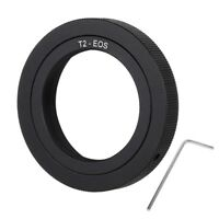T2-EOS T2 Thread Lens to EOS Camera Metal Mount Adapter Stepping Ring