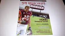 Danny Coale Virginia Tech Hokies signed 2009 New River Valley Magazine Steelers