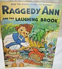 Large Book  Raggedy Ann and the Laughing Brook Johnny Gruelle