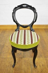 Antique Victorian carved balloon back dining / bedroom / hall chair