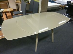 New Twist Metal & Glass Extending Dining Table 120-180 cms *Furniture Village*