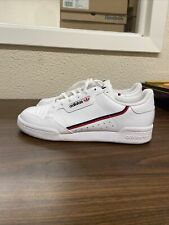 adidas Big Kids' Originals Continental 80 Shoes White/Red/Black F99787 Size 6.5