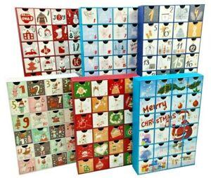 Fill / Make your Own Advent Calendar 24 Days 1-24 Draws Christmas Countdown
