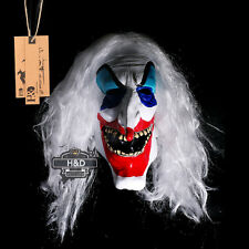 Latex Long Nose Haired Clown Halloween Mask Scary Horror Fancy Dress Costumes