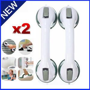 2x Grip Handle Bath Bathroom Suction Grab Bar Safety Shower Cup Rail Tub Support