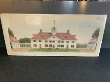 Limited Edition Mount Vernon Hand Tinted Print George Washington's Home ~Signed