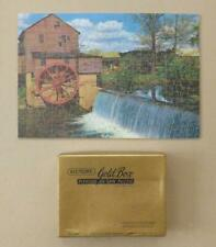 """VICTORY GOLD BOX Wooden Jigsaw 300pc - WATER MILL """"In Days Gone By"""" - Whimsies"""